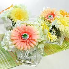 glass vase centerpiece