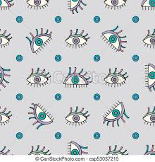 vector background modern pattern hand drawn abstract eyes pattern sight seamless vector vector