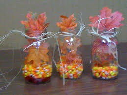 Fall Table Centerpieces by Cute Fall Table Decorations Using Mason Jars Fill The Bottom With