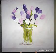 Glass Vase Painting Tulips In A Glass Vase Pt 1 Lisa Marie Art U0026 Illustration