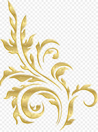 gold ornament gold plant pattern png 957 1280 free