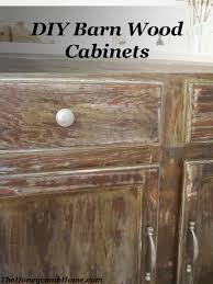 Kitchen Cabinets Redone by Diy Barn Wood Cabinets Builder Grade Barn Wood And Barn