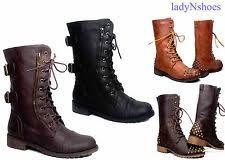 womens black combat boots size 11 studded combat boots ebay