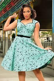 50s heidi pinup swing dress in mint