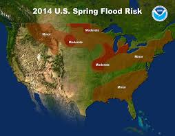 Flood Map Noaa Predicts Moderate Flood Potential In Midwest National