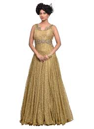 buy beige lace indowestern gown dresses and gown online shopping