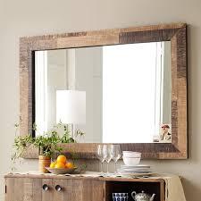 reclaimed wood bathroom mirror reclaimed wood wall mirror west elm