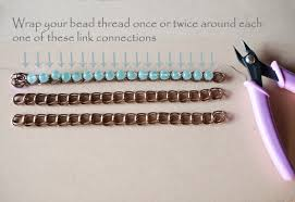 beaded chain bracelet images How to make a pretty unique ombre bead chain bracelet like jpg