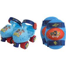 paw patrol kids u0027 roller skates knee pads walmart