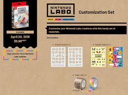 a closer look at the nintendo labo customization set perezstart