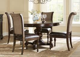 metal polyester solid brown upholstered round kitchen table and
