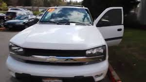 chevrolet trailblazer white 2002 chevrolet trailblazer lt white 22317557 seattle