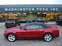 2012 Black Ford Mustang 2012 Red Candy Metallic Ford Mustang Gt Convertible 54630768