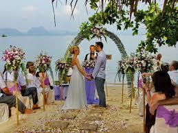 mariage en thailande mariage sur la plage de rêve de l ile koh yao