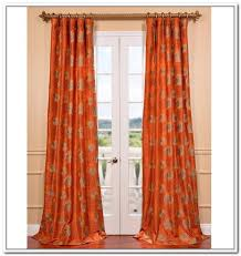 Contemporary Orange Curtains Designs Contemporary Entryway With Burnt Orange Curtains Drapes And Brass