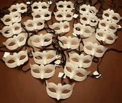 venetian masks bulk venetian masks unpainted party pack
