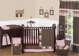 Soho Crib Bedding Set Modern Soho Pink And Brown Baby 11pc Crib Bedding Set Without