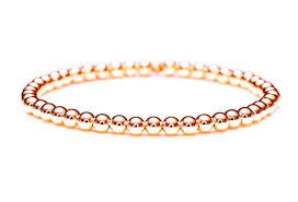 gold bracelet woman images 14k rose gold bead stretch bracelet 3mm 6mm men and women 39 s jpg