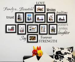 diy warm family rule words photo frame home decals love blessing