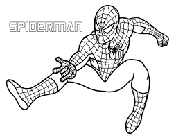 coloring page spiderman the amazing spiderman ready to shoot his