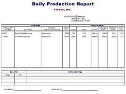 daily production report template free layout u0026 format