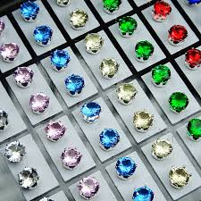 store stud earrings 72pcs mix color cubic zirconia stainless steel fashion stud
