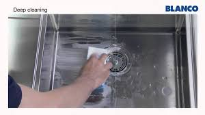 how to keep stainless steel sink shiny how to clean and care for a blanco stainless steel sink youtube