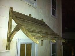 Awning Over Front Door Fantastic Wood Door Awning Plans 47 In Furniture Home Design Ideas