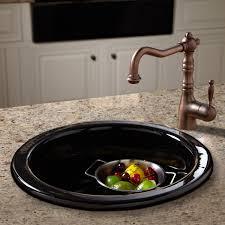 decor risigner black prep sink in round shape for kitchen