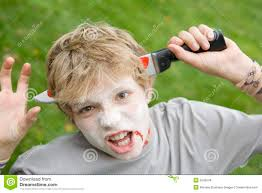 scary halloween photos free young boy with scary halloween make up royalty free stock image