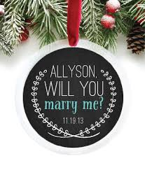 will you me engagement personalized ornament