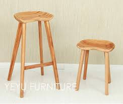Modern Wood Bar Stool Minimalist Modern Design Solid Wooden Bar Stool Low Stool Counter
