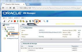 ovm console how to take console of oracle vm guest unixarena