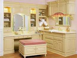 Oak Vanity Table With Drawers Furniture Impressive Furniture Old And Vintage Oak Wood Makeup