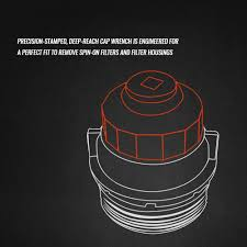 lexus ls 460 oil filter change amazon com cap style oil filter socket wrench 65mm 14 flutes