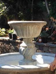 l with water fountain base succulent fountain ideas how to convert a fountain to a succulent