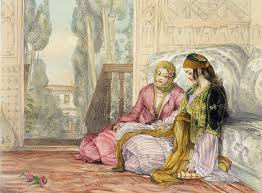 Ottoman Harem The Harem Painting By Frederick Lewis