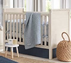 Baby Boy Nursery Bedding Sets Montauk Belgian Flax Linen Baby Bedding Sets Pottery Barn
