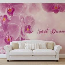 flowers orchids pink wall paper mural buy at europosters original price