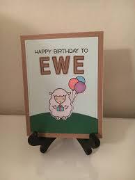 Halloween Birthday Ecard by Cute Birthday Card Happy Birthday To Ewe Happy