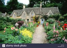 ancient cottages and traditional english cottage gardens with