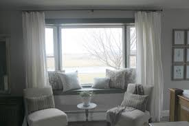 easy curtains for bay windows in living room window treatments bay