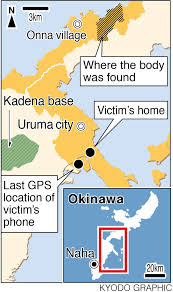 Map Of Okinawa Kadena Worker Admits Strangling Stabbing Woman Found Dead In
