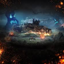 wallpapers kv 1 in the style of halloween wot blitz 4 2 fan site