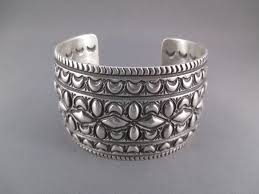 silver cuff bracelet with images Darryl becenti sterling silver cuff bracelet navajo bracelet jpg
