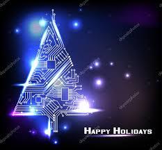 hi tech christmas tree from a digital electronic circuit u2014 stock