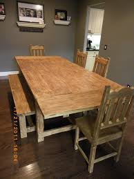 dining table with bench and chairs treenovation