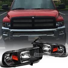 2001 dodge ram headlights 1994 2001 dodge ram 1500 2500 3500 1pc headlights black