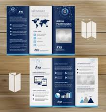 free three fold brochure template trifold brochure template vectors stock for free about