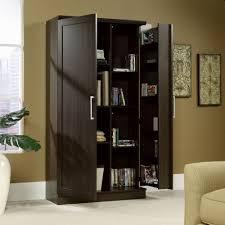 oak finish storage cabinet sauder 411572 homeplus dakota oak storage cabinet